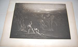 Paradise Lost. Adam Repelling Eve. [Book 10,: Martin, John. [John