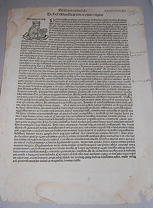 Liber Chronicarum. [Nuremberg Chronicle]. Single Leaf CCXXXVIII.: Schedel, Hartmann.