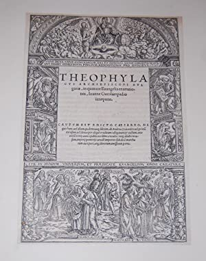 Theophylacti Archiepiscopo Bulgariae, in quatuor Evangelia enarrationes,: Theophylact of Bulgaria.