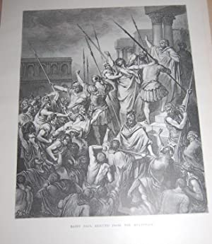 Saint Paul Rescued From The Multitude. Original Print. Holy Bible.: Dore, Gustave. Bible.
