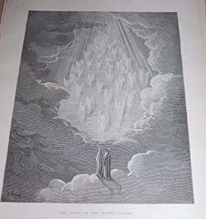 The Vision Of The Golden Ladder. Original: Dore, Gustave. Dante.