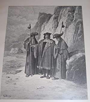 The Oyster And Its Claimants. Original Print.: Dore, Gustave. La