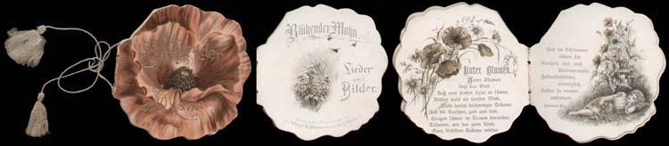 Blühender Mohn. Lieder und Bilder.: Miniaturbuch - Umrissbilderbuch