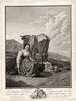 La Pastorella Frigiona. Radierung nach Karel Dujardin.: Laurent, Pierre. -