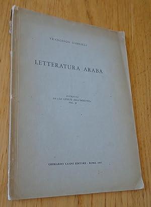 """Letteratura araba. Estrato da """"Le civilta dell'Oriente"""": Gabrieli (Francesco)"""