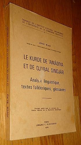 Le kurde de Amâdiya et le Djabal: Blau (Joyce)