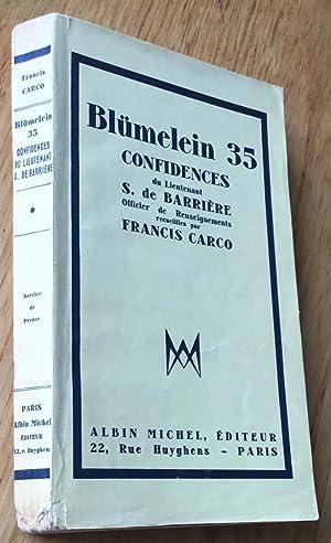 Blümelein 35. Confidences du Lieutenant S. de: Carco (Francis) &
