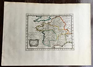 GALLIAE DIVISIO OCTAVIANA. Theatrum geographique Europae veteris. Carte de la Gaule ancienne.