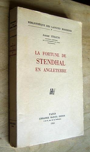 La fortune de Stendhal en Angleterre: Strauss (André)