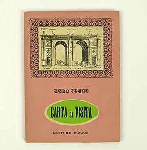 Carta da visita di Ezra Pound: Pound, Ezra