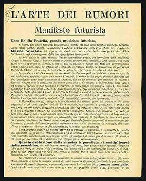L'Arte dei rumori. Manifesto futurista: Russolo, Luigi.