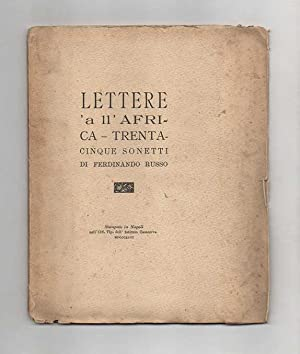 Lettere  a ll Africa. 35 sonetti