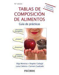 TABLAS DE COMPOSICIÓN DE ALIMENTOS: MOREIRAS TUNI, OLGA;CARBAJAL,