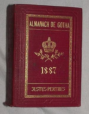 ALMANACH DE GOTHA Annuaire Diplomatique et Statistique pour L'année 1887: Niemann, A. and F. de...