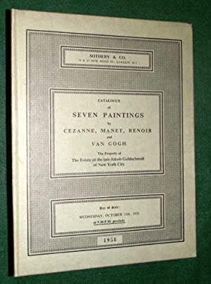 CATALOGUE OF SEVEN PAINTINGS BY CEZANNE, MANET,: Sotheby