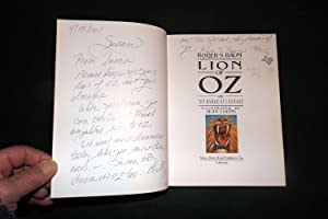 LION OF OZ AND THE BADGE OF COURAGE: BAUM, Roger S. [preface - Gloria Estafan; editors Elm ...