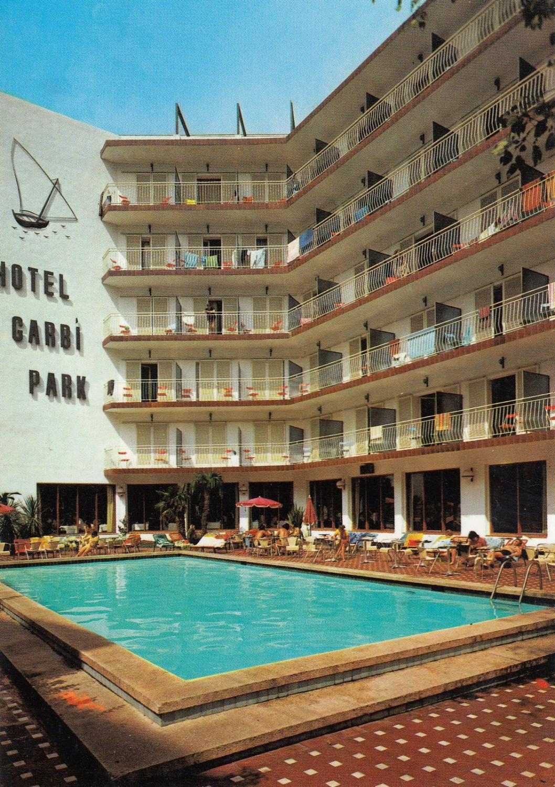 Hotel Garbi Park Lloret De Mar Swimming Pool Spanish Postcard Manuscript Nbsp Nbsp Paper Nbsp Collectible Postcard Finder
