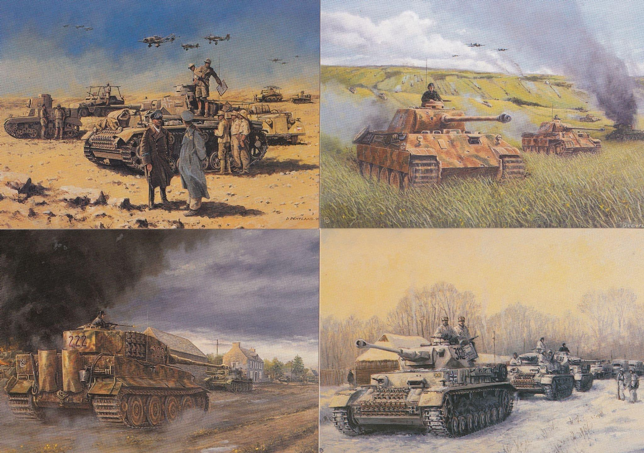 Panzer IV F2 V Tiger I German Tanks WW2 War