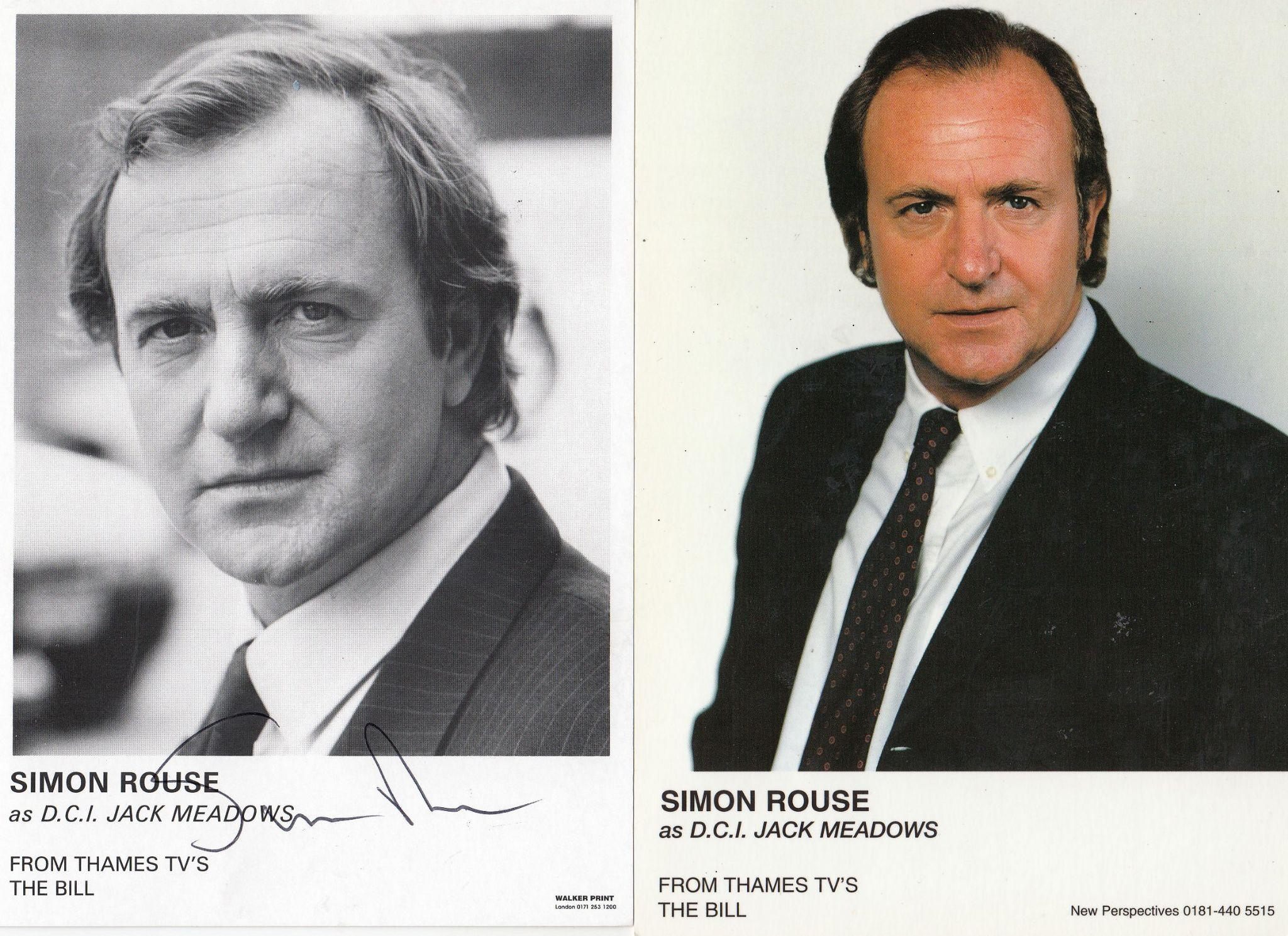Simon Rouse The Bill ITV Vintage 2x Hand