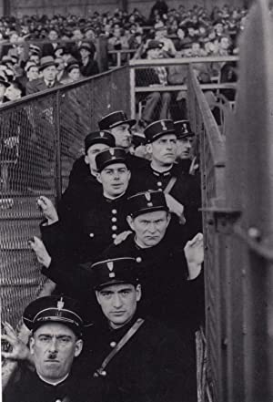 Riot Police at 1930s French Football Match Paris Policeman France Award Postcard