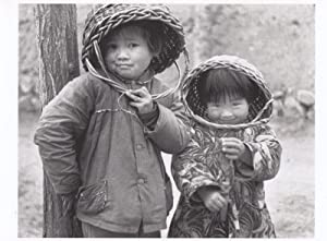 The Peoples Republic Of China Chinese Childrens Basket Fashion Photo Postcard