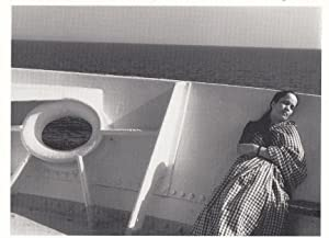 Indian Poverty Lady Sleeping on Suez Canal 1960s Boat Switzerland Photo Postcard