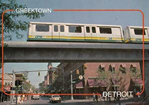The Detroit People Mover Train Passing Over