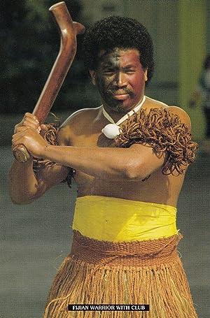 Fijian Warrior Fiji Postcard