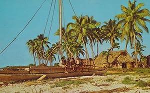 Fijian Koro Fiji Canoe Canoes Village Life