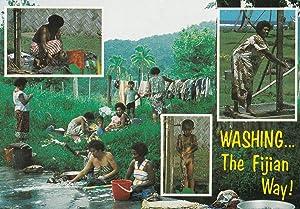 Washing The Fijian Way Fiji Tribe Postcard