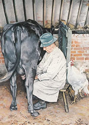Glenfield Farmer Milking A Cow 1946 Leicester
