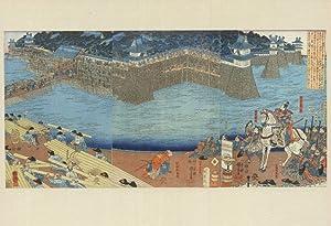 Utagawa Kuniyoshi Harunagas Castle Restoration Japan Painting