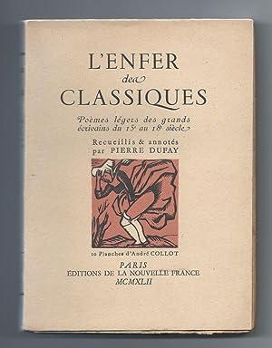 L'Enfer des Classiques. Poemes legers des grands: DUFAY, Pierre (ed)
