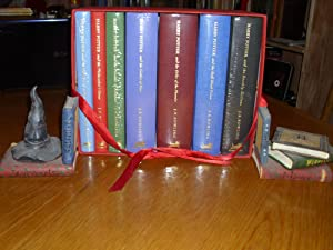 Harry Potter - the Complete Collector's Edition series in first printings (Chamber of Secrets, Ph...