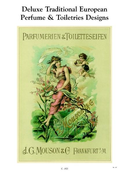 DELUXE TRADITIONAL EUROPEAN PERFUME & TOILETRIES DESIGNS. Moussin & Cie. 118 pages in colour showing many different types of packaging designs for perfumes and eau de colognes, different shapes and sizes of bottles and pres