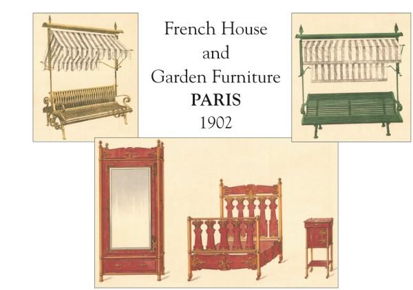 French House and Garden Furniture, Paris 1902. WESSBECHER, EMILE. New Softcover 52 colour plates. All types of metal and wooden furniture, garden furniture, coffee tables and decorative furniture. Ref. No. 149