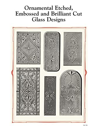 Ornamental Etched, Embossed and Brilliant Cut Glass Designs.: BAXENDALE'S, MILLER STREET, ...