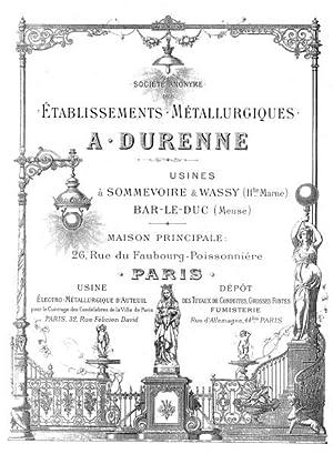 A. Durenne: Etablissements Metallurgiques,: DURENNE, A.