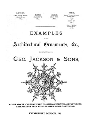 Example of Architectural Ornament, etc., London, 1889,: JACKSON, G.,