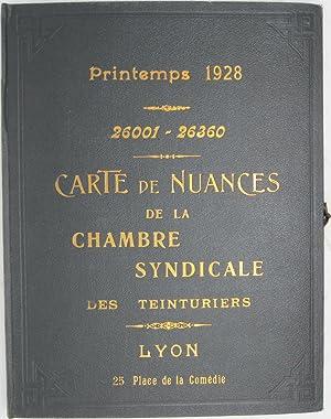 Silk Samples] Carte de Nuances de la Chambre Syndicale des Teinturiers, Printemps 1928, 26001-26360...