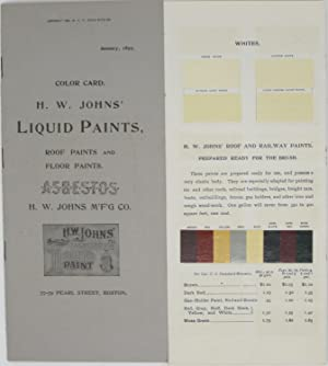 H.W. Johns' Liquid Paints, Roof Paints and Floor Paints, Asbestos (Color Card, January 1899)