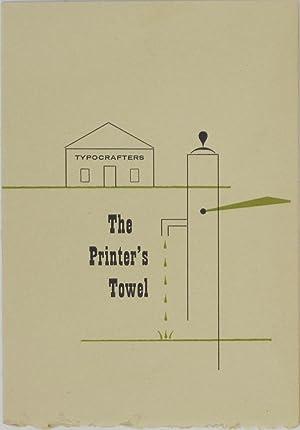 The Printer's Towel: A Little Keepsake Presented: Burdette, Robert