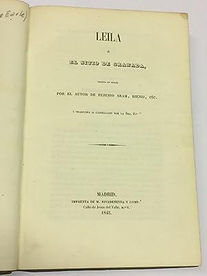 Leila ó el sitio de Granada, escrita: BULWER-LYTTON, Edward George