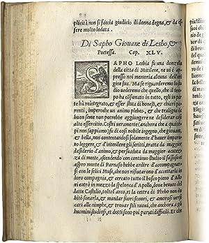 Libro.delle Donne Illustri, tradotto per Giuseppe Betussi.: BOCCACCIO Giovanni