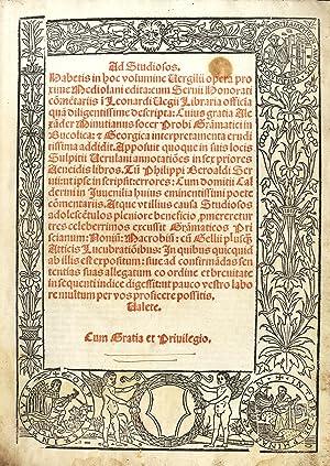 Opera) Ad studiosos. Habetis in hoc volumine: VERGILIUS MARO Publius
