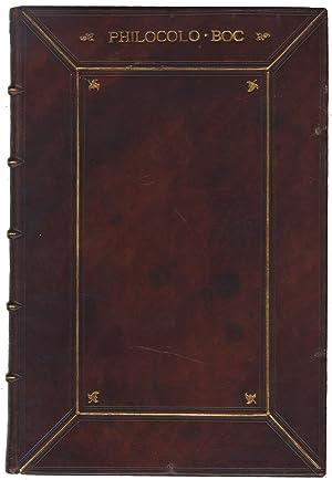 Philocolo in lingua vulgare tosca composto per: BOCCACCIO Giovanni