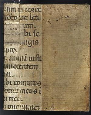 NICOLAI DE LYRA. Quaestiones Lyrae Judaicam perfidiam: BIBLIA LATINA CUM