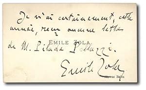 Biglietto da visita: ZOLA Emile