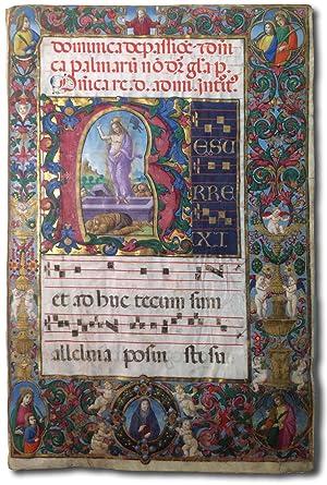 Miniatura con la Resurrezione e Bordura con: Antonio da Monza.