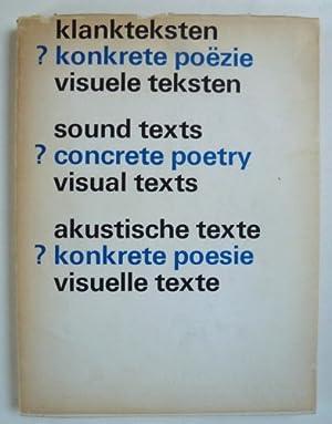 Klankteksten konkrete poezie visuele teksten / sound: CONCRETE POETRY